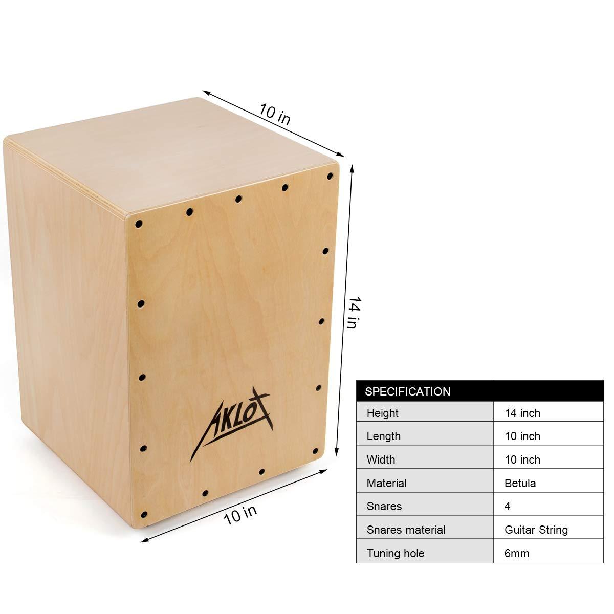36 cm Aklot Tambor Caj/ón Conjunto de caja compacta de mermelada ac/ústica Cajones de percusi/ón con funda Para ni/ños y adultos principiantes 25 25