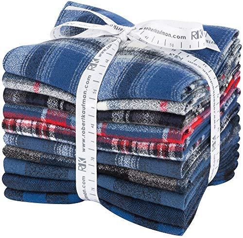 Mammoth Flannel Blue 10 Fat Quarters Robert Kaufman Fabrics ()