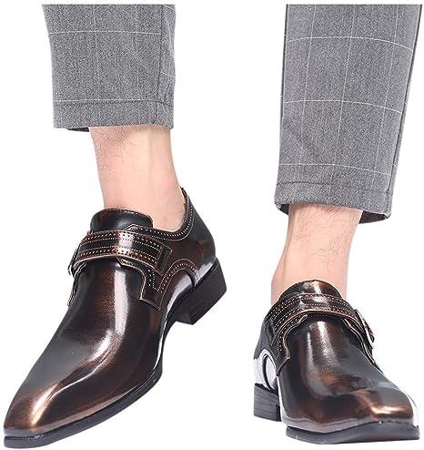Vaycally Zapatos vaqueros de encaje para hombre Zapato con