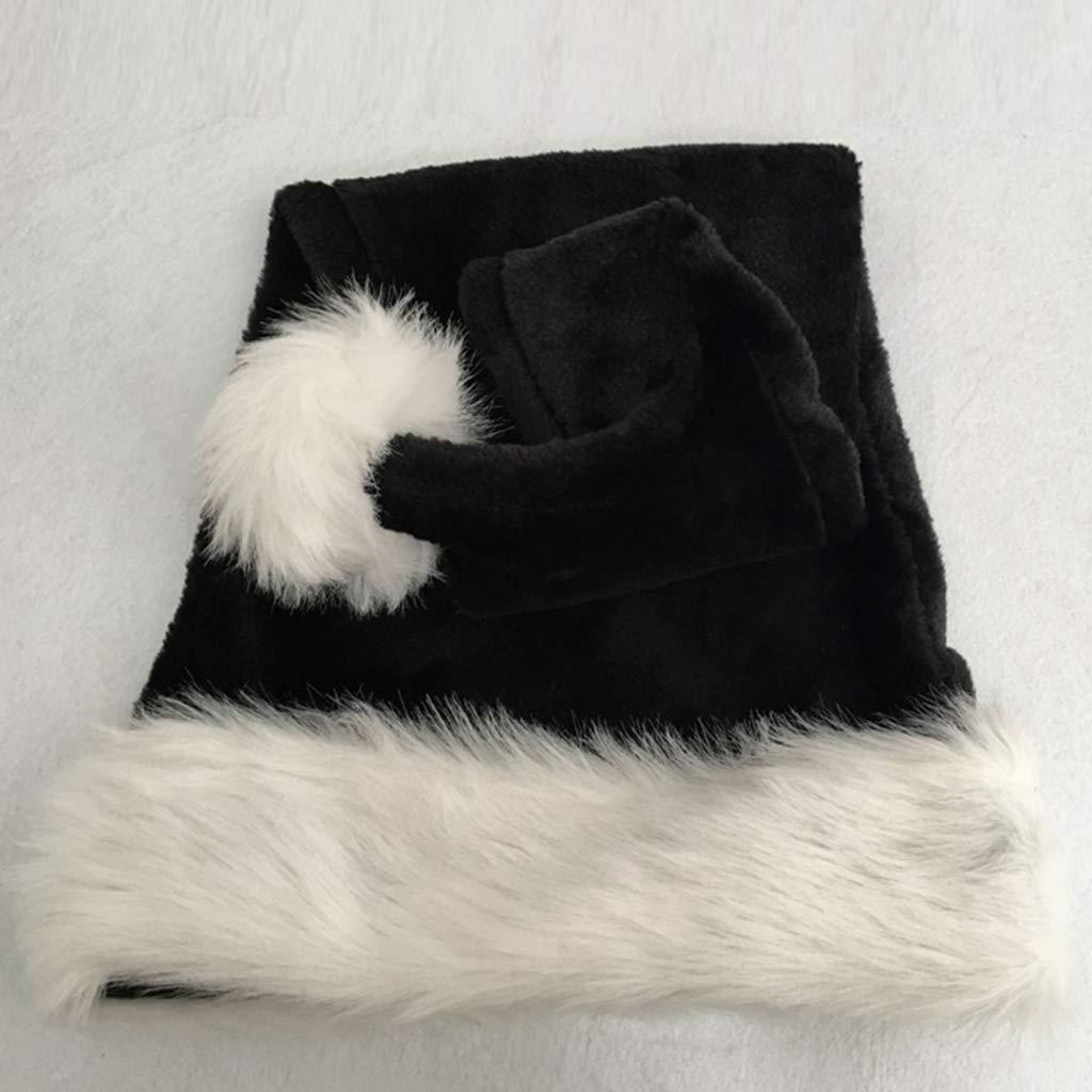 Gorro de felpa para disfraz de Pap/á Noel Vxhohdoxs color negro 75 cm