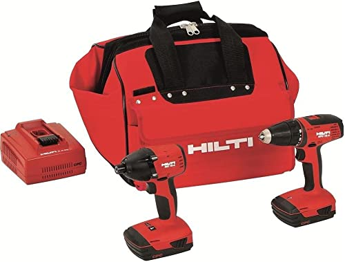 Hilti 3487032 18-Volt Lithium-Ion Cordless Drill Driver Impact Driver Compact Combo Kit