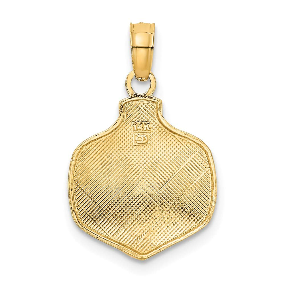 Jewels By Lux 14K Yellow Gold Our First Christmas Ornament Pendant