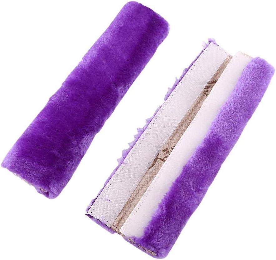 SUV Auto Comfortable Fabric Burgundy Durable /& Adjustable Pads 2Pcs Car Seat Belt Cover Soft Seatbelt Shoulder Pads Purple Beige Black for Adults Women Kids Truck