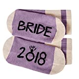 Womens Funny Socks Bride 2018 Fun Saying Novelty Crazy Crew Ankle Short Stocking