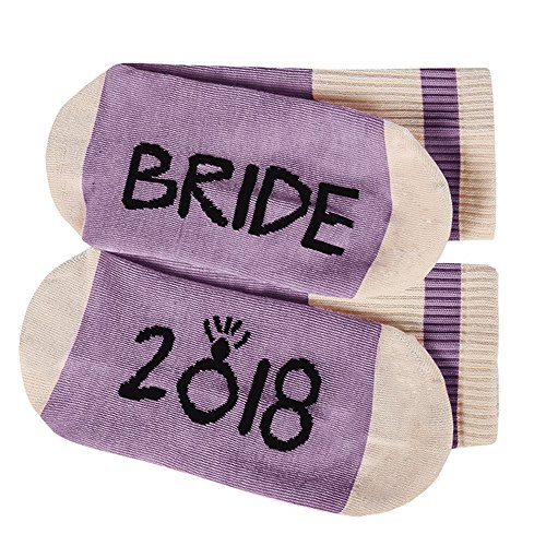 Womens Funny Socks Bride 2018 Fun Saying Novelty Crazy Crew Ankle Short Stocking by Liadon (Image #3)