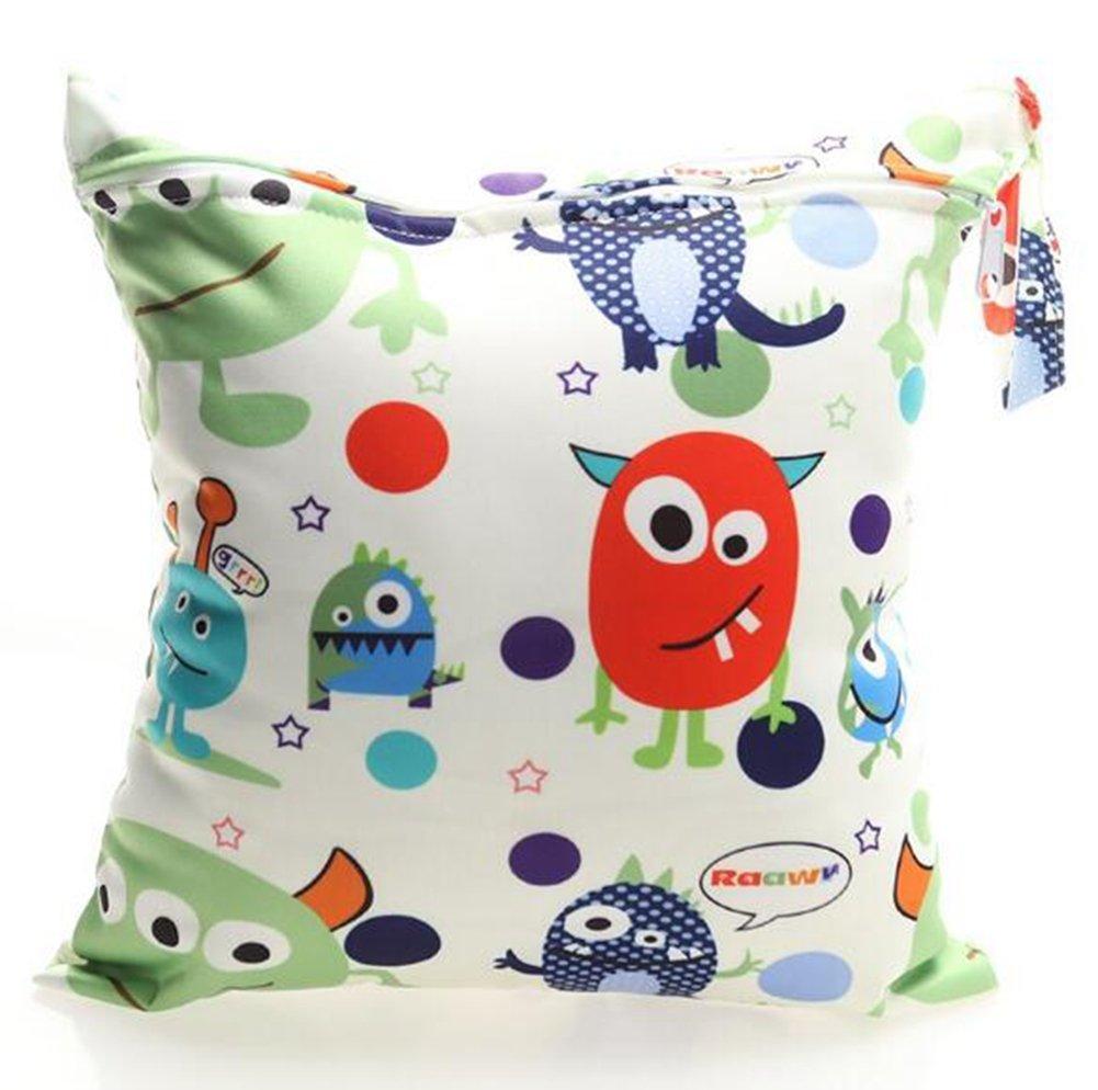 Bolsa de Pañales Animados Reutilizable de Bebes, Lomire Útil Bolsa de Mamá Seca Impermeable Lavable