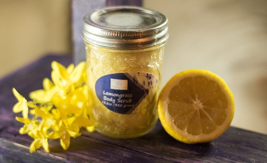 Lemongrass Body Scrub by A Caring Touch Skin Therapy, Inc. 7.3 oz made with our special formulation of organic sugar and salts