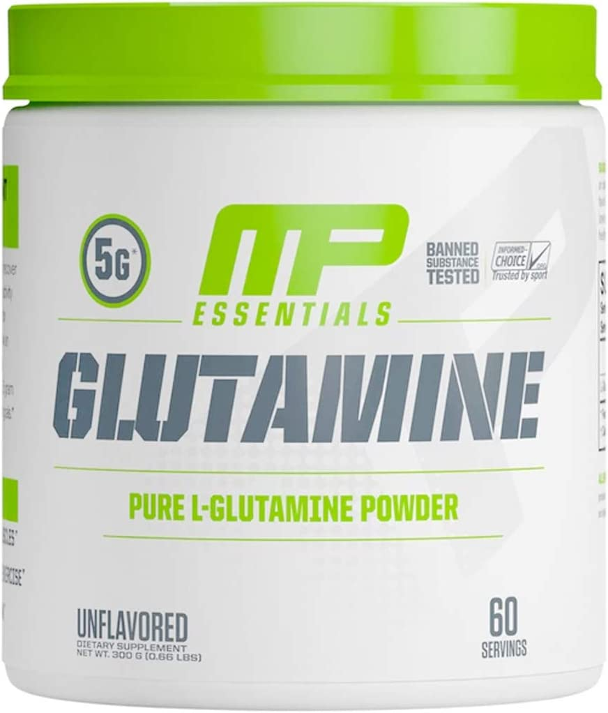 MP Essentials 100 Pure Glutamine Powder, Muscle Growth and Recovery, L-Glutamine Powder, Promotes Recovery after Intense Exercise, Helps Repair Muscles, MusclePharm, 300 g, 60 Servings