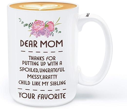 Amazon.com: Taza de café para mamá, regalo de cumpleaños ...