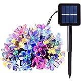 PeterIvan Solar String Lights - 20ft 50 LED Waterproof Solar Garden Lights for Indoor & Outdoor Decoration, Solar Powered Blossom Flowers String Lights for Garden and Patio