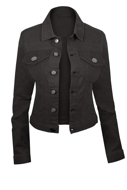Hot From Hollywood Women's Button Down Long Sleeve Classic Outerwear Denim Jacket 90017-JCKT-WJ-WMS