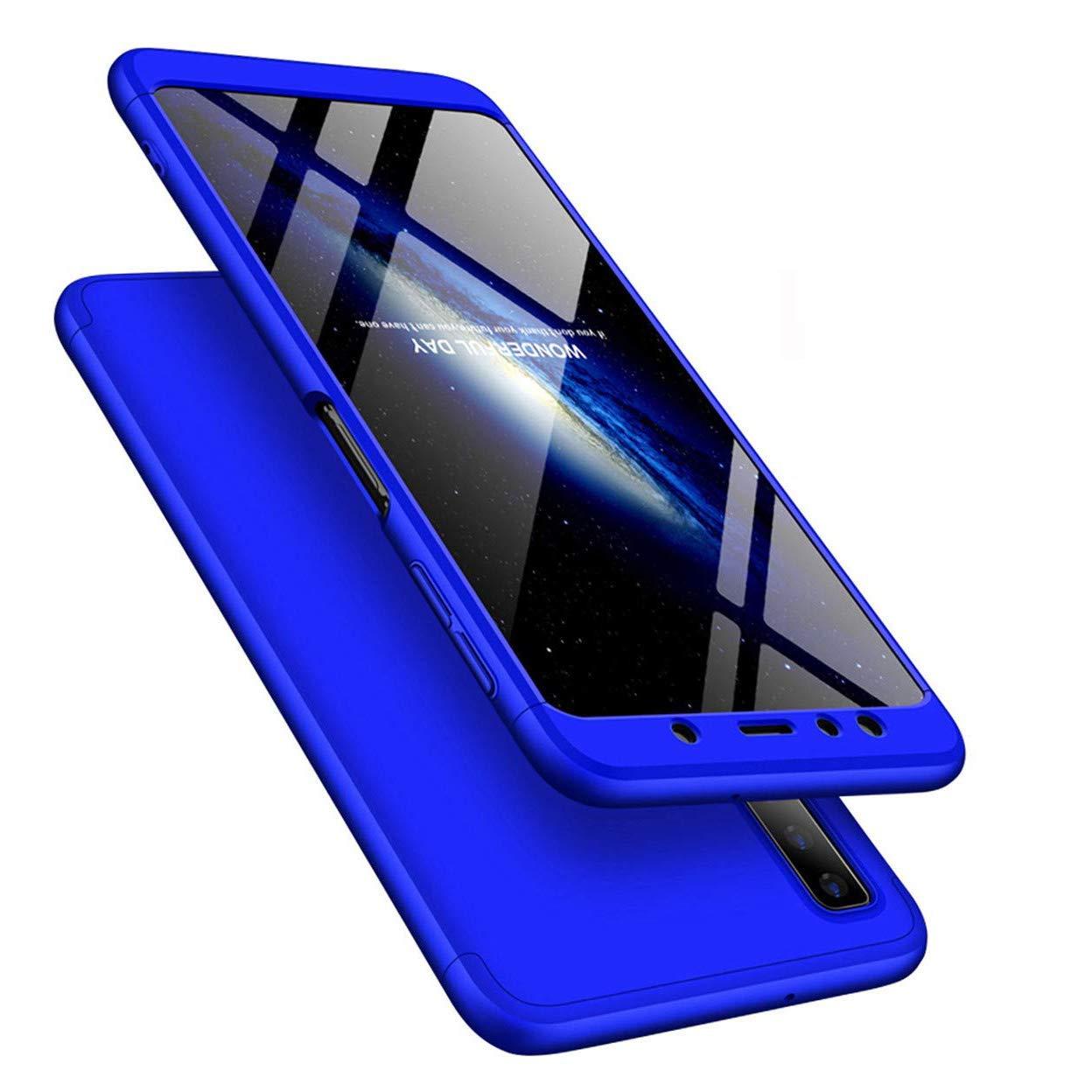 iPhone Xs MaxケースiPhone Xs Plusケース超スリム2 in 1耐衝撃360°フルボディーフロントバックハードPCプラスチックアンチスクラッチカバーiPhone Xs Maxとの互換性、2IN1 PC - ブルー   B07MJBVLFN