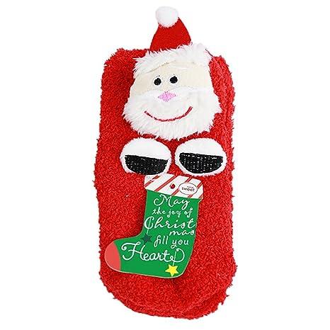 Bebé de calcetines de Navidad Coral calcetines 3d dibujos animados edad 0 – 2 Unisex de