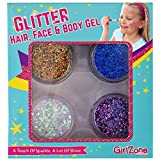 GirlZone: Glitter Gels Makeup For Girls, Great Birthday Gift Present Gifts For Girls Age 4 5 6 7 8 9 10 11 12 Years Old