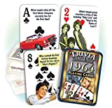 1964 Flickback Trivia Playing Cards: Birthday Gift or Anniversary Gift