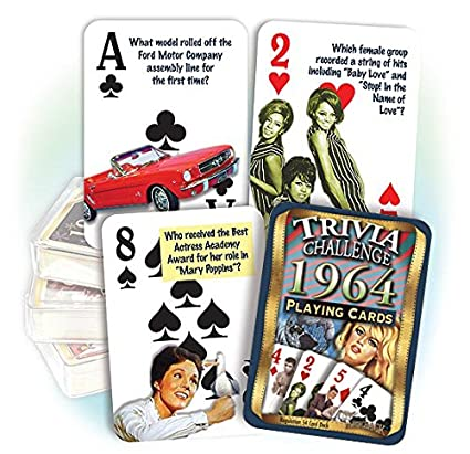 Amazon 1964 Flickback Trivia Playing Cards Birthday Gift Or