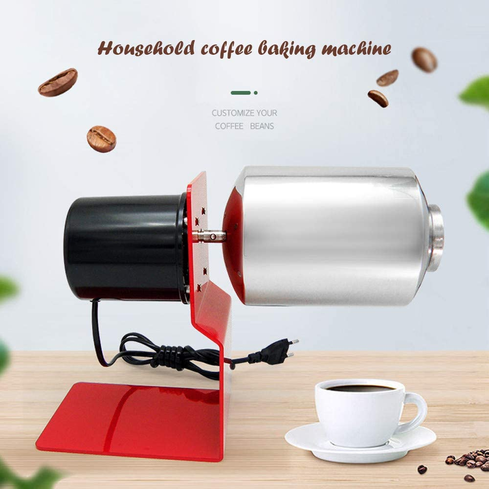 100~120g Coffee Beans Roaster Machine, Nonporous Large Caliber Including Gas Stove Automatic Coffee Baking Machine For Home Stainless Steel Thick Drum 120V