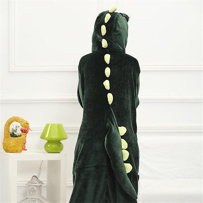 Amazon.com: Japsom Unisex Plush Dinosaur Adult Fancy Dress Costume Pajamas Green: Clothing