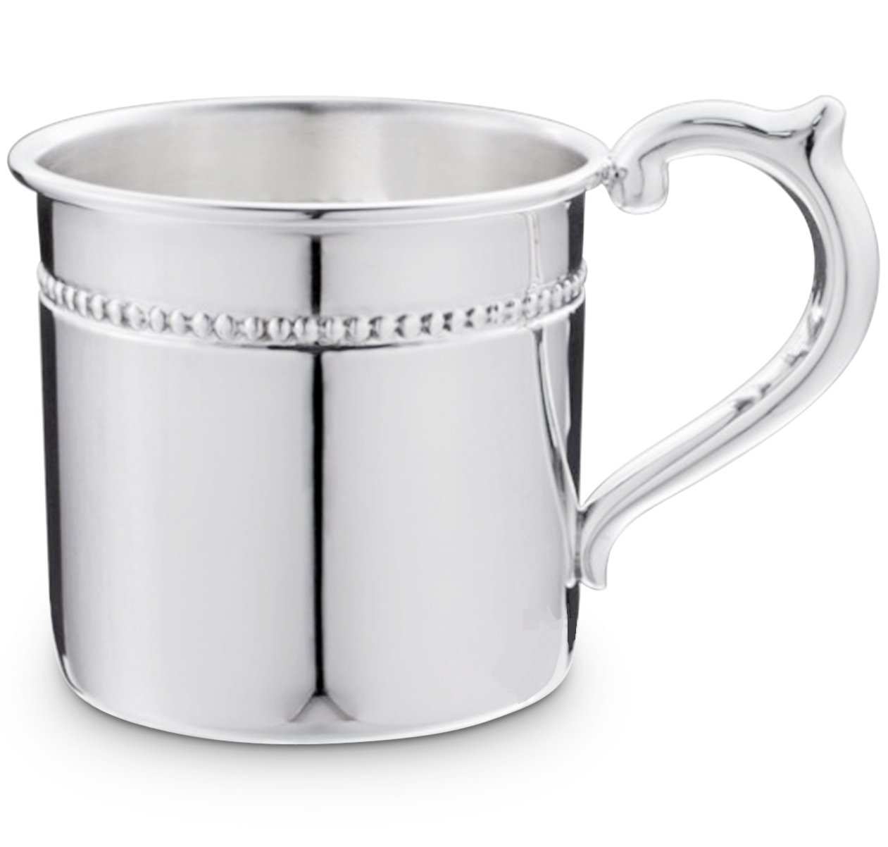 Cunill 3.5-Ounce Pearls Baby Cup, 2.12-Inch, Sterling Silver