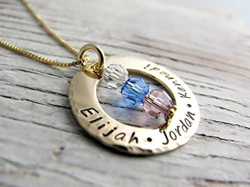Amazon Com Hand Stamped Gold Mother S Necklace Grandmother