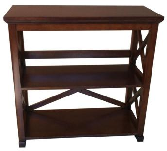 Brexley 2-Shelf Bookcase in Warm Chestnut-THD900​36.1a.OF - The Home Depot