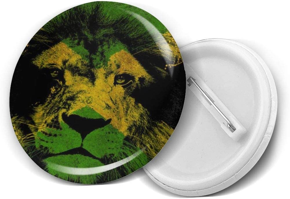 YXXZ Jamaican Lion Flag Round Badge Brooches and Pins Accessories Multiple Packs