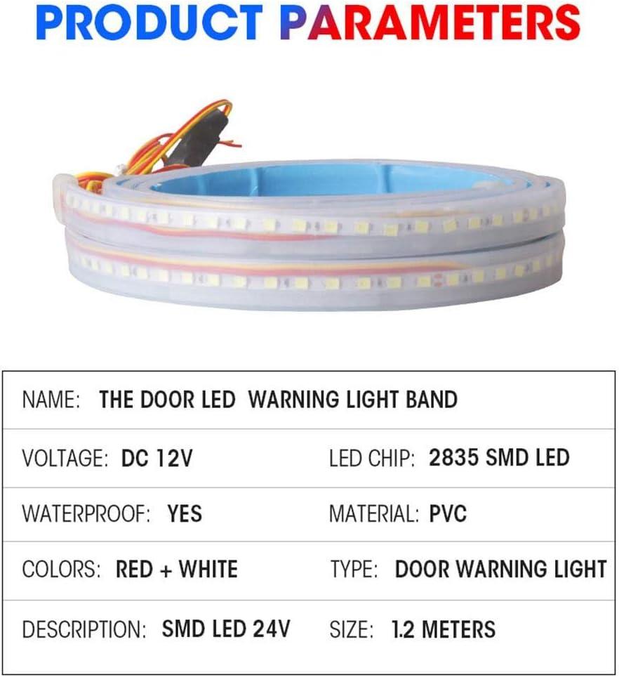 wangza Voyant Davertissement De Porte De Voiture Bande Lumineuse Arri/ère Automatique Lampe De D/écoration LED De Bienvenue Anti-Collision Durable Accessoires