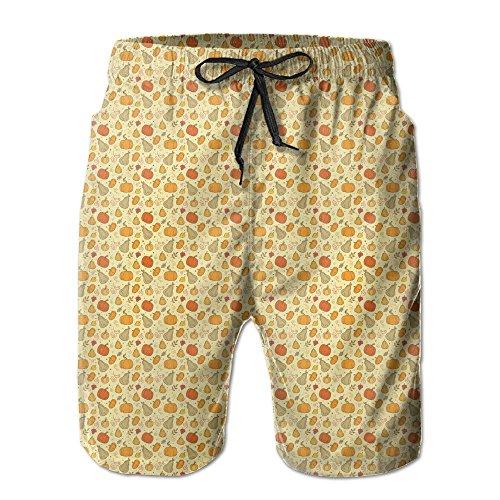 Thanksgiving Appetizers Men's Beach Shorts Elastic Waist Pockets Lightweight Swimming Board Short Quick Dry Short Trunks