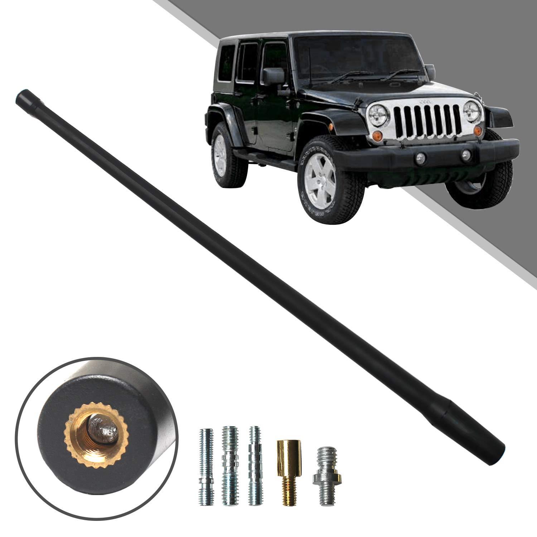 Optimized FM//AM Reception. Beneges 13 Inch Flexible Rubber Replacement Antenna Compatible with 2007-2019 Jeep Wrangler JK JKU JL JLU Rubicon Sahara