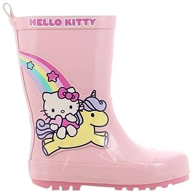 c833a9e6f Hello Kitty Girls Kids Boots Rainboots Wellington (Pink Pnk), 7 Child UK