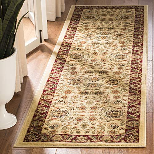 Safavieh Lyndhurst Collection LNH215A Traditional Oriental Ivory and Red Runner (2'3