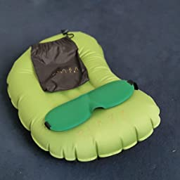 Eliminate Exhaustion Plaza Relax Travel//Camping Pillows Inflatable Compact Compressible Backpacking U-Shaped. Soft Ergonomic Pillow for Neck /& Lumbar Support Blow Up Air Comfortable Ultralight