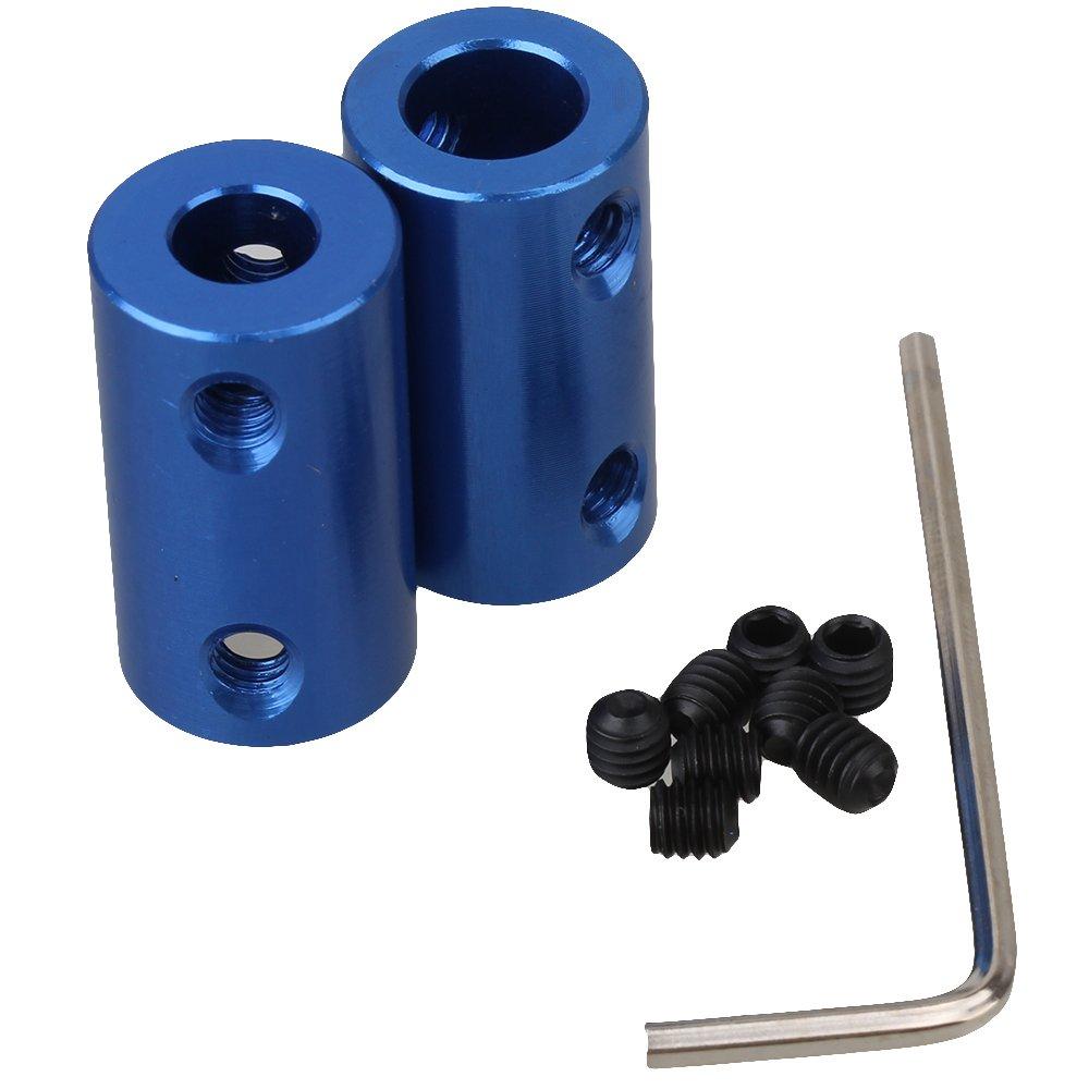 Cnbtr blu 6.35 mm a 8 mm D14L25 aluminum albero accoppiamento motore accoppiatore rigido set di 2 yqltd CNBTR18