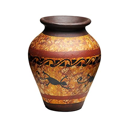 Amazon Com Clay Vase For Home Decor Handmade In Colombia Rustic