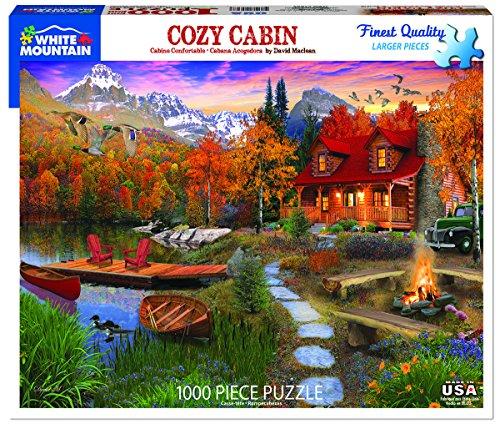 White Mountain New! Cozy Cabin - 1,000 Piece Jigsaw ()