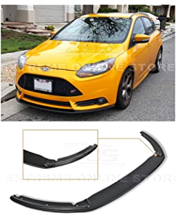Front Bumper Splitter Compatible With 13-14 Ford Focus ST PP Front Bumper Spoiler Lip With Hardware CF Look Bodykit By IKON MOTORSPORTS
