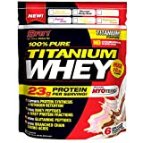 SAN Nutrition 100% Pure Titanium Whey Protein Powder, Chocolate Rocky Road, 10 Pounds
