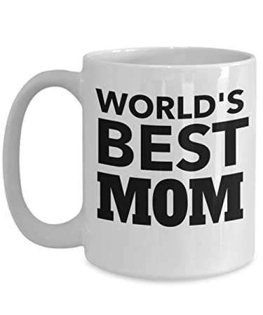 Amazon.com: Mundos mejor mamá 15oz taza de café – regalo ...