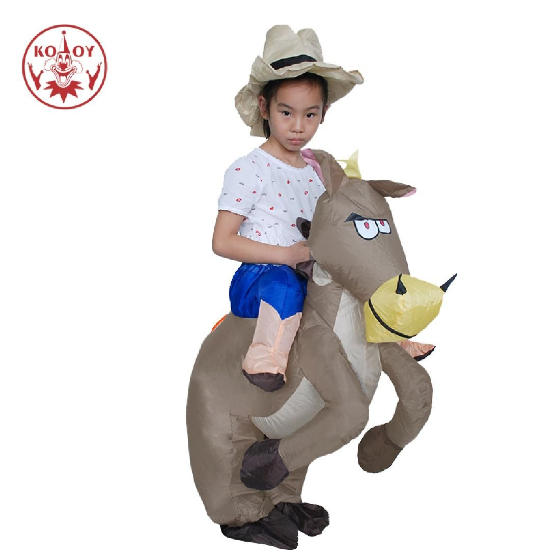 Children Halloween Inflatable Costumes Baby Cosplay Ridding Cowboy Costume by Crystalbella Inflatable Cos