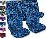 zebra blue car seat covers - Complete set of Blue