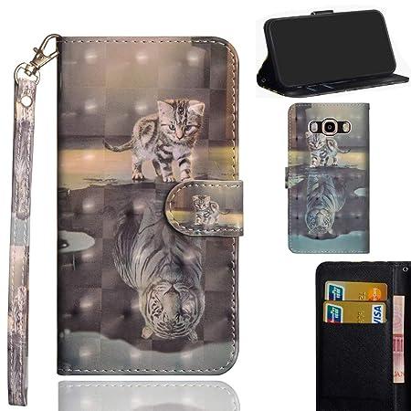 Ooboom Samsung Galaxy Grand Prime Hülle 3D Flip PU Leder Schutzhülle Handy Tasche Case Cover Ständer mit Trageschlaufe Magnet