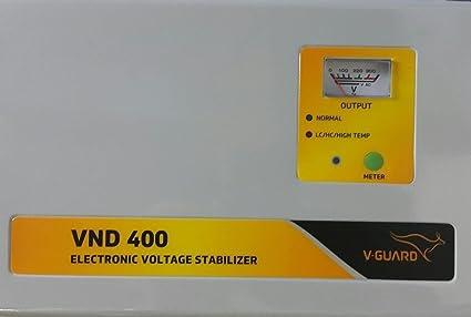 V Guard VND400 Voltage Stabilizer for 1.5 Ton AC  150V 290V  Stabilizers