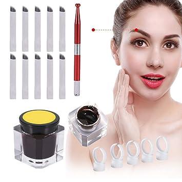 Buy Red : Microblading Pen, ZJchao Permanent Makeup Eyebrow Pen