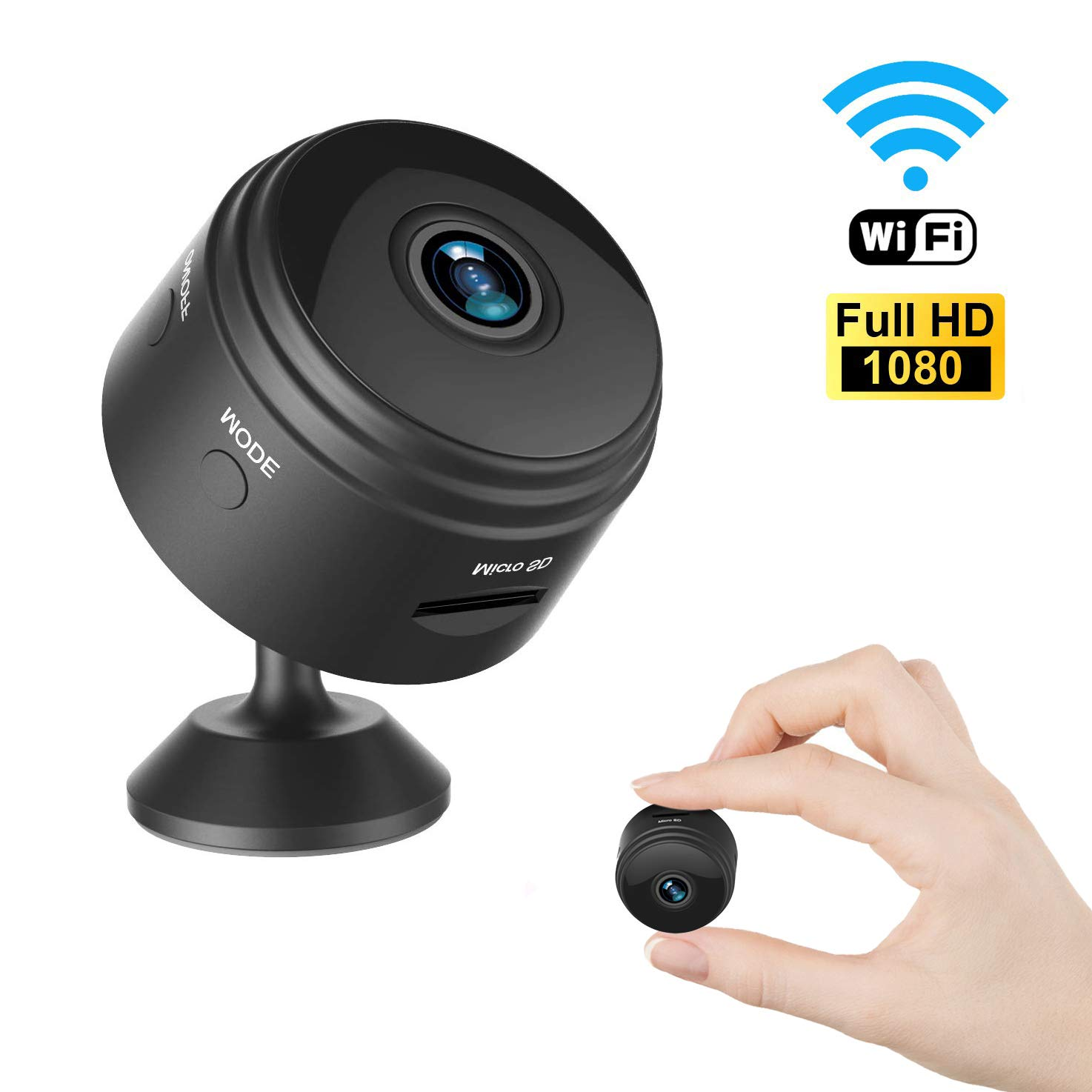 Mini Spy Camera Wireless Hidden Camera WiFi HD 1080P Small Nanny Cam Home Security Motion Detection Night Vision Remote View with Cell Phone App Android iPhone