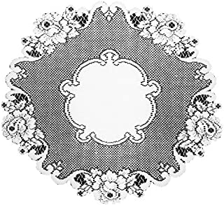 product image for Heritage Lace Vintage Rose 20-Inch Round Doily, White