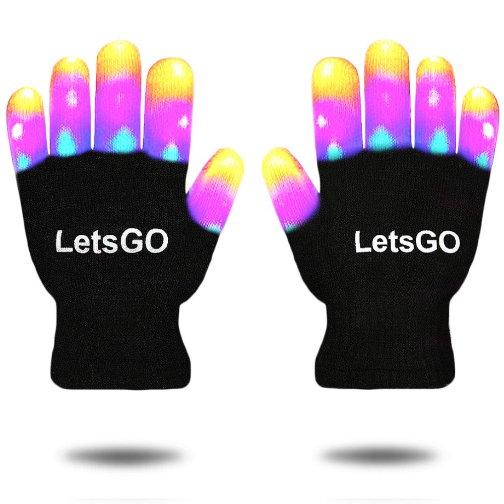 Cooco LED Flashing Gloves for Kids – Gifts Package