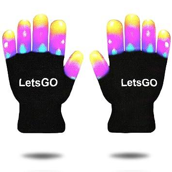 Easony Guantes de Luz LED Intermitentes Geniales - Los Mejores Regalos