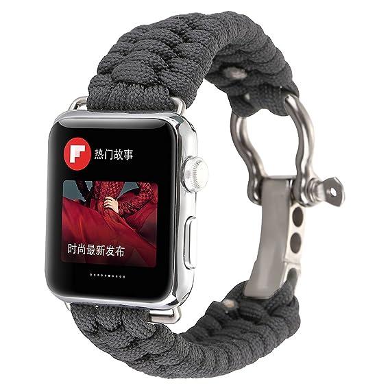77bfbde5a Amazon.com: PINHEN for Apple Watch Series 4 Band - Lifesaving ...