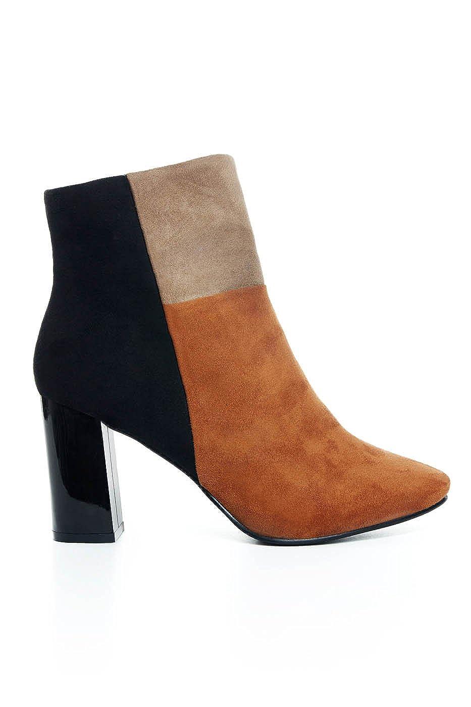 9ac1cc239de Amazon.com | Women's Wide Width Shirleen Color-Block Ankle Booties ...