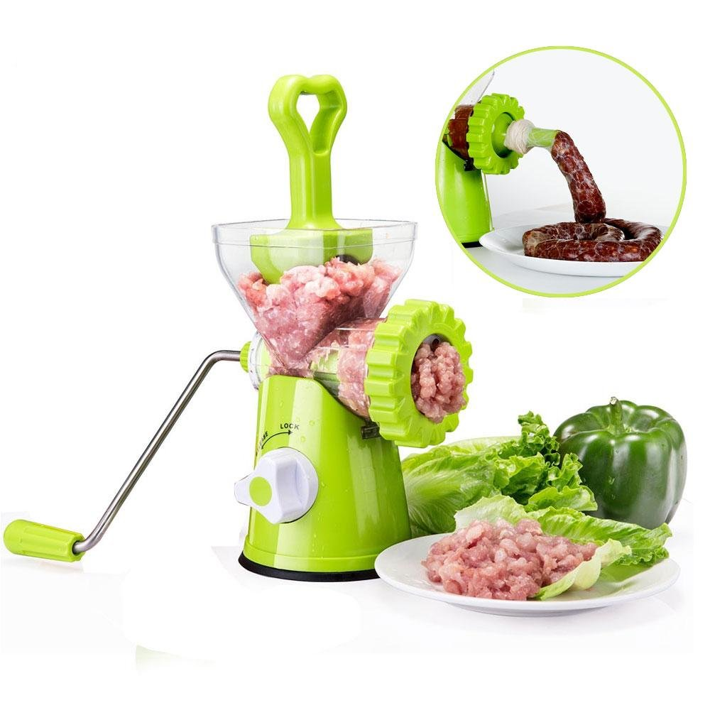 Manual Meat Grinder, Hand Crank Meat Mincer Sausage Stuffer Pasta Maker for Meat, Vegetables, Garlic, Fruits, Fats,Nuts,Cookies,etc Aolvo